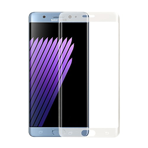 AMORUS Galaxy Note 7 Tempered Glass Screen Protector, 3D Curved Full Coverage Silk Print Protector for Samsung Note 7 N930 - Transparent
