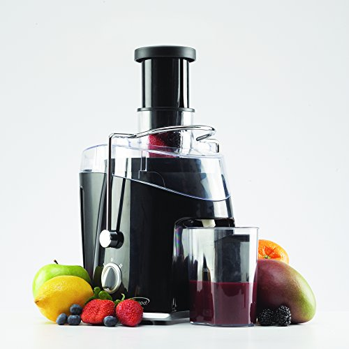 Juice Extractor - Brentwood Wide Feeder Multi Speed Juicer - Black