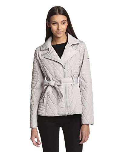 Jessica Simpson Women's Quilted Jacket with Belt