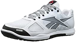 Reebok Men\'s R Crossfit Nano 2.0 Training Shoe, White/Flat Grey/Black, 10 M US