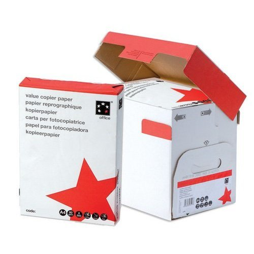 5 Star Office Value Copier Paper Multifunctional Ream-Wrapped 80gsm A4 White - 1 box containing 5 Reams of 500 sheets