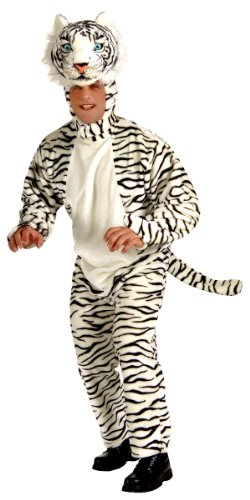 Forum Novelties Men's White Tiger Deluxe Plush Mascot Costume