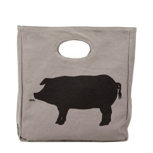 Fluf Organic Cotton Lunch Bag, Oink - 1