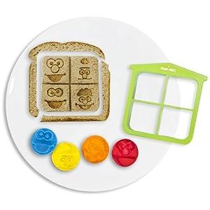 Evriholder 90420 Sesame Street Crust Cutter with 4 Stamps