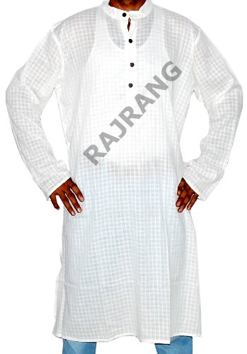 Designed Mens Casual Wear Long Cotton Kurta Shirt Size 3XL