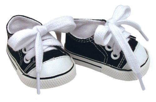 Fits American Dolls Black Doll Sneakers, 1 Pr. of 18 Inch Doll Kicks - 1