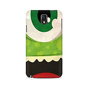 Motivatebox- Green Monster Premium Printed Case For Samsung Note 3 N9006 -Matte Polycarbonate 3D Hard case Mobile Cell Phone Protective BACK CASE COVER. Hard Shockproof Scratch-