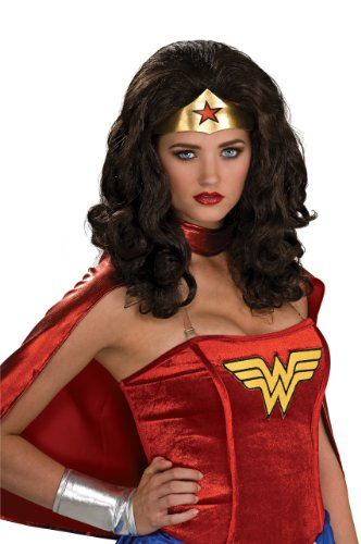 Secret Wishes Wonder Woman Wig, Black, One Size