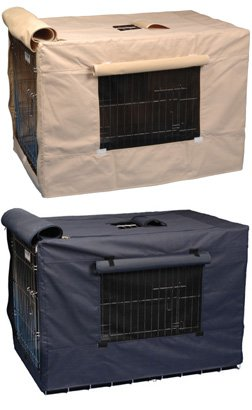 The Animazing Crate Cover-Indoor/Outdoor - 3000-Navy - Crate A Safe And Secure Sanctuary For Your Pet - For Use With Wire Crates front-968332