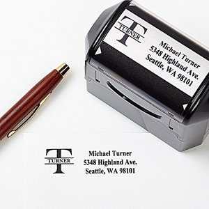 Custom Name Personalized Rubber Address Stamp