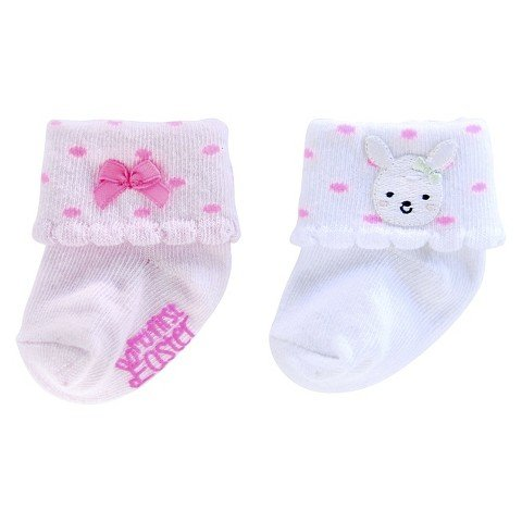 Carter's Baby Just One You 2 Pack Cute Bunny Easter Socks Boy/Girl (6-12 months, Pink)