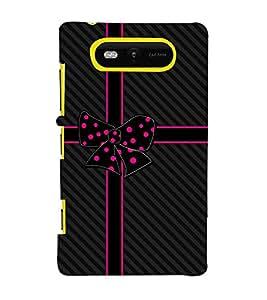 Beautiful Bow 3D Hard Polycarbonate Designer Back Case Cover for Nokia Lumia 820 :: Microsoft Lumia 820