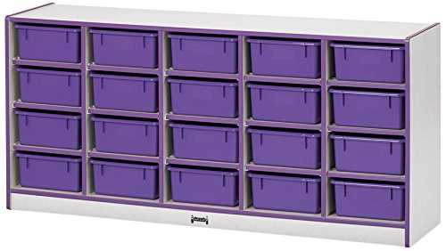 Rainbow Accents 4021JCWW180 20 Tub Mobile Storage with Tubs, Black (20 Drawer Mobile Organizer compare prices)