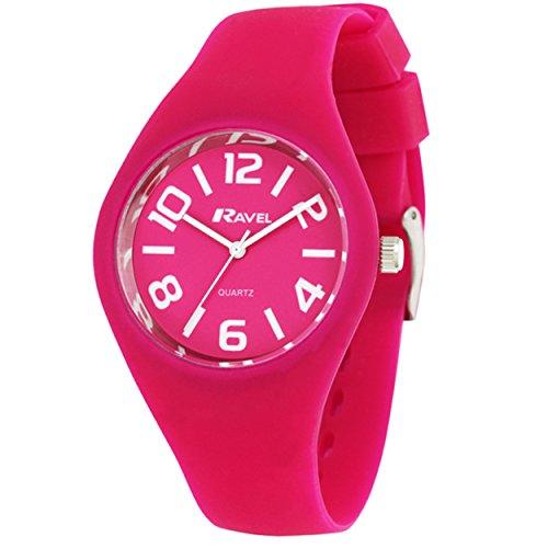 TimeLine Press, LLC R1801.05.1 - Orologio da polso da donna, cinturino in silicone colore rosa