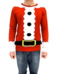 Christmas Sweater Santa Costume Medium