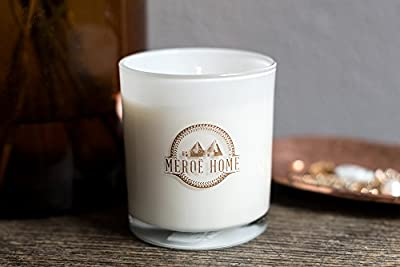 100% Soy Candle Scented, Eco-Friendly, Luxurious, Non-Toxic, Long-Burning, Soy Wax, Best Soy Candles, Aromatherapy, 8 oz Jar, 50 Hours, White