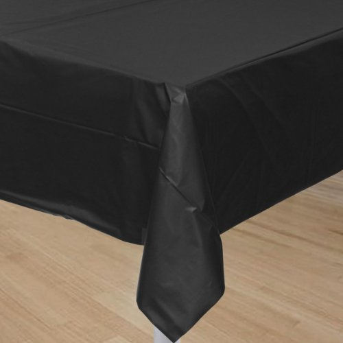 Black Plastic Tablecover (1ct)
