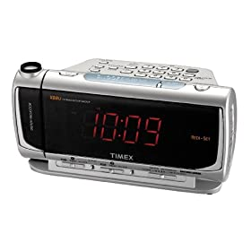 Timex T736S Dual Alarm Clock Radio with Time Projector and Jumbo Display