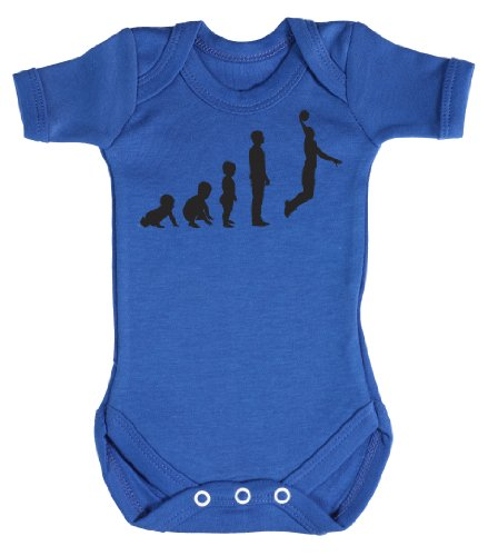 Baby Buddha - Evolution To A Basketball Player Funny Baby Grow 0-3M Blue front-864794