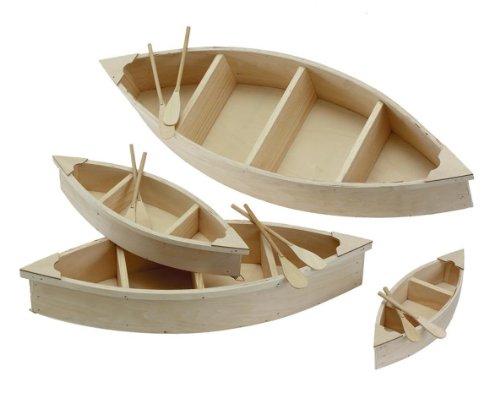 Darice 9610-17 Wood Canoe Cutout, 9-Inch - 1
