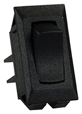 JR Products 13401-5 Black Unlabeled On/Off Switch - Pack of 5