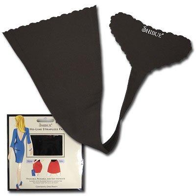 SHIBUE(シブー)ノーラインストラップレスショーツ ブラック XSサイズ
