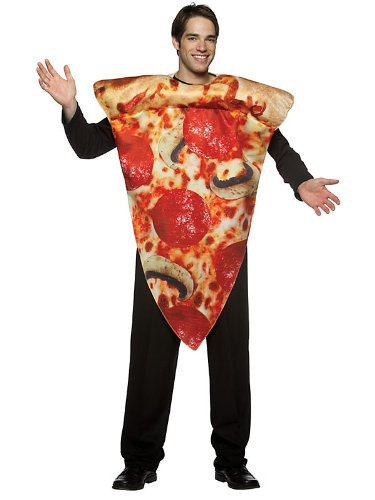 Rasta Imposta Pizza Slice Costume, Multi-Colored, One Size