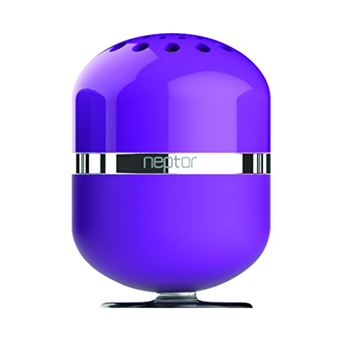 Neptor Npsp01-Pu Interactive Touch Play Wireless Portable Bluetooth Speaker With Rechargeable Battery With Built-In Mic/Speakerphone/Hands-Free Calling