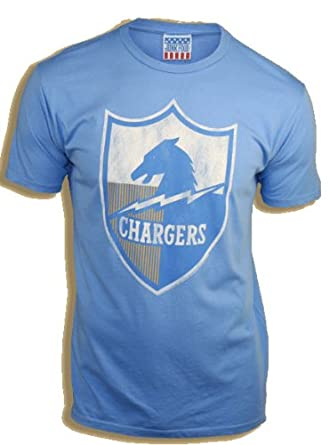 Junk Food NFL San Diego Chargers Crest Blue Mens T-shirt Tee by Junk Food