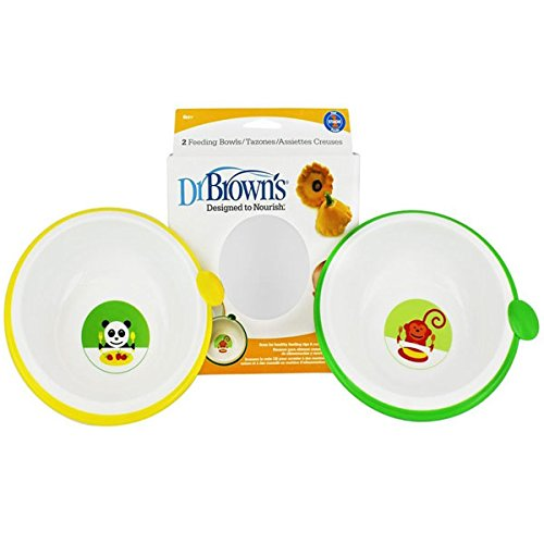 Dr. Brown'S Bowls - 2Pk - Monkey/Panda front-366008