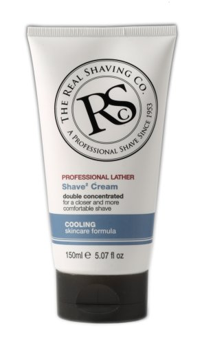 The Real Shaving Co. RS Professional LATHER SHAVE CREAM 'MENTHOL' 150 ml (5.07 fl oz) Made in England (Real Shaving Company Shave Cream compare prices)
