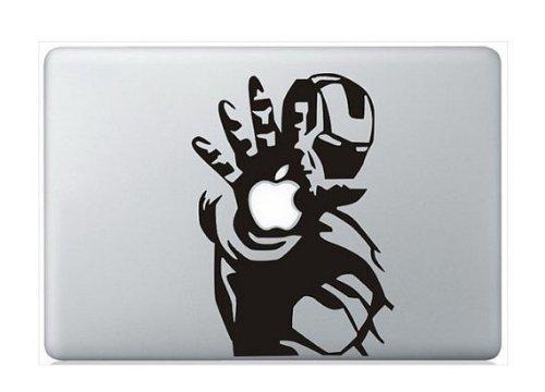 Sticker Styles Iron Man Apple Hand Macbook Vinyl Sticker Laptop Skin