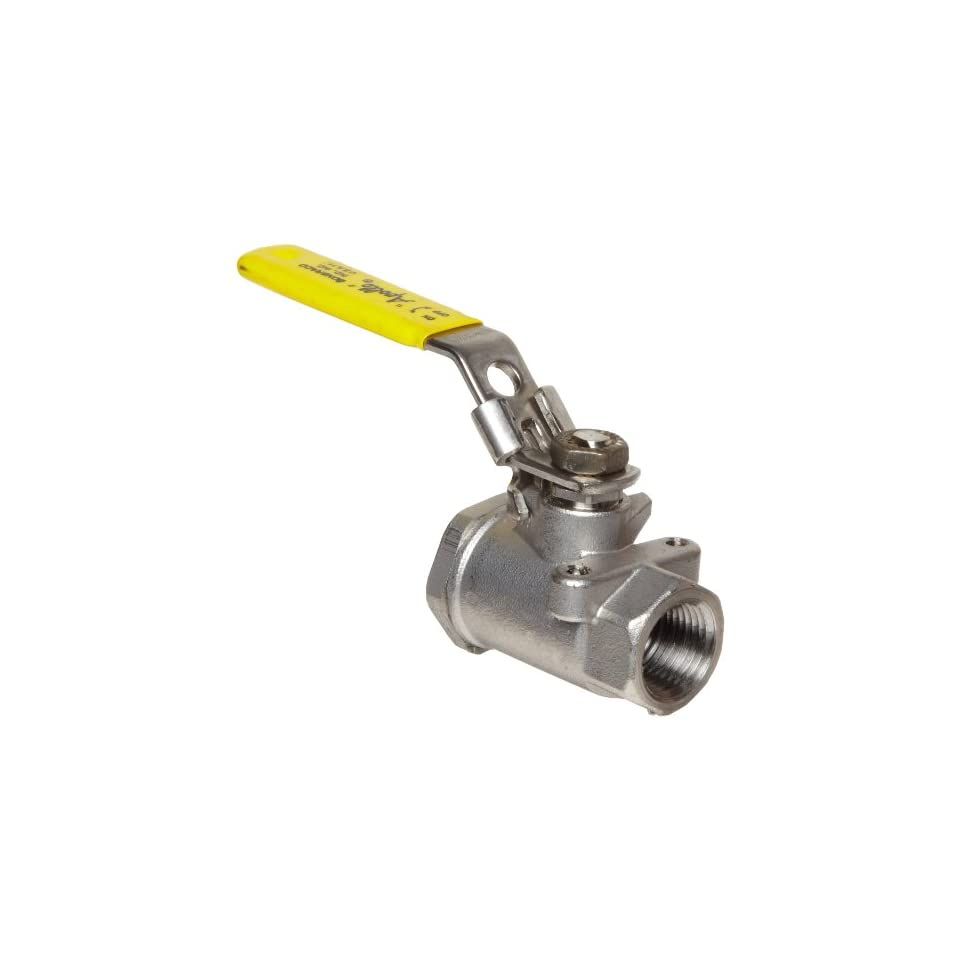 Two Piece Lockable Lever 3-Port Diverting 3//4 NPT Female 3//4 NPT Female BA3WDSLH-  34 Milwaukee Valve BA3WDSLH Series Stainless Steel Ball Valve