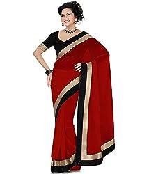 Shree Laxmi Creation Red Madhuri Saree