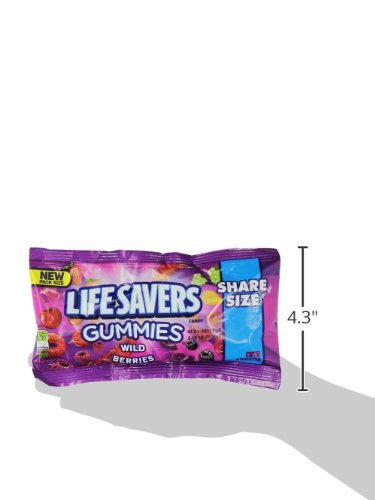 Life Savers Wild Berries Gummies Candy, 4.2 oz (15 Share Size Packs) Food, Beverages Tobacco