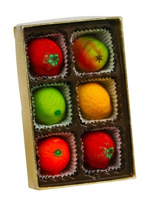 Bergen Marzipan Fruit 6pc Assorted 2.6oz (6-pack)