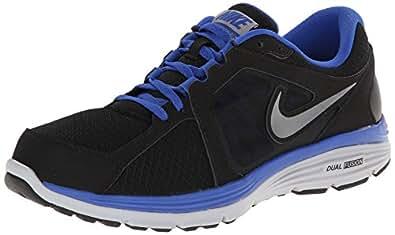 Nike Dual Fusion Run Men's Running Shoes, Black/Metallic Cool Grey/Game Royal/Wolf Grey, 11.5 M US