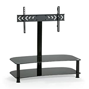 mount it 32 55 inch flat panel tv mount and glass entertainment center combo. Black Bedroom Furniture Sets. Home Design Ideas