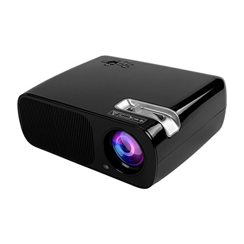 Mileagea BL20 2600ルーメン LEDプロジェクター 解像度800*480 1080Pサポート 日本語説明書付き HDMI/USB/VGA/YPbPr/AV/Audio out/Audio in対応 無料HDMIケープル ランプ寿命20000時間 ブラック