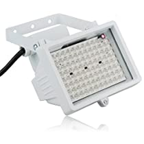 96 LED Night vision IR Infrared Illuminator Light CCTV Camera 80m(262 FT), Standard 45° level angle visual range-White