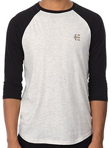 T-Shirt Raglan Etnies Baseline Bianco-Nero (L , Bianco)