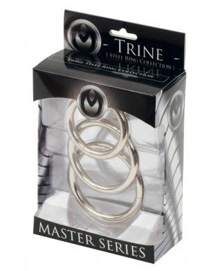 Master series trine steel c-ring collection (Package Of 4) шлем для жесткого бдсм master series