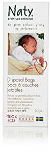 Naty by Nature Babycare ECO Disposal Bags - 3 x Packs of 50 (150 Disposal Bags)