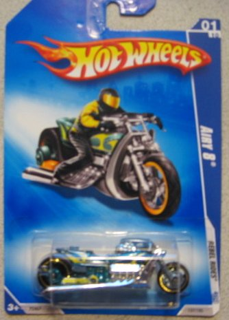 Hot Wheels Airy 8 Motorcycle 2008 Rebel Rides 137/190 - 1