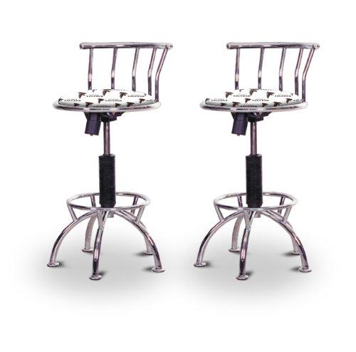 "2 24""-29"" Atlanta Falcons Seat Chrome Adjustable Specialty / Custom Barstools Set front-1012251"