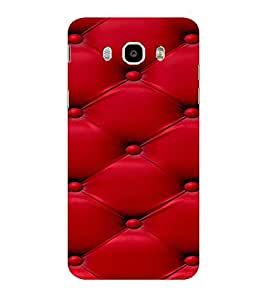 ifasho leather pattern sofa style red colour Back Case Cover for Samsung Galaxy On8
