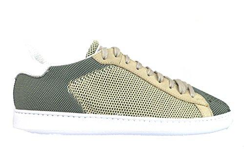 BRIMARTS sneakers uomo pelle camoscio tessuto (40 EU, Beige/bianco/verde)