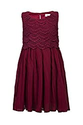 Soulfairy Girls' Dress (SS16-DRSFRL-007B_Wine_5-6 Years)