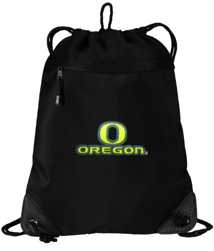 University Of Oregon Drawstring Bag Backpack Uo Ducks College Logo Sophisticated Microfiber & Mesh- For School Beach Gym