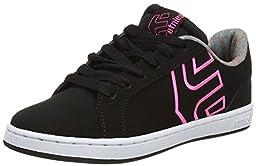Etnies Women\'s Fader LS Skateboarding Shoe, Black/Dark Grey, 7.5 M US